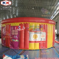 Round Type PVC/Oxford Drill tent inflatable Round fire safety house escape room tent