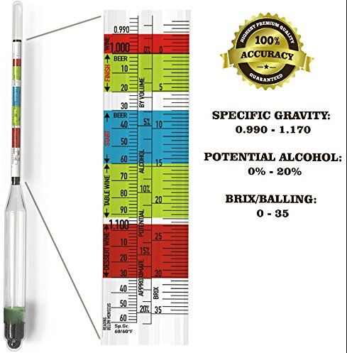 3 Scale Hydrometer for Beer and Wine Home Brewing and ...