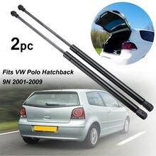 2 pçs porta traseira do carro boot suportes de gás suporte levantadores para vw para polo hatchback 9n 2001-2009 6q6827550c