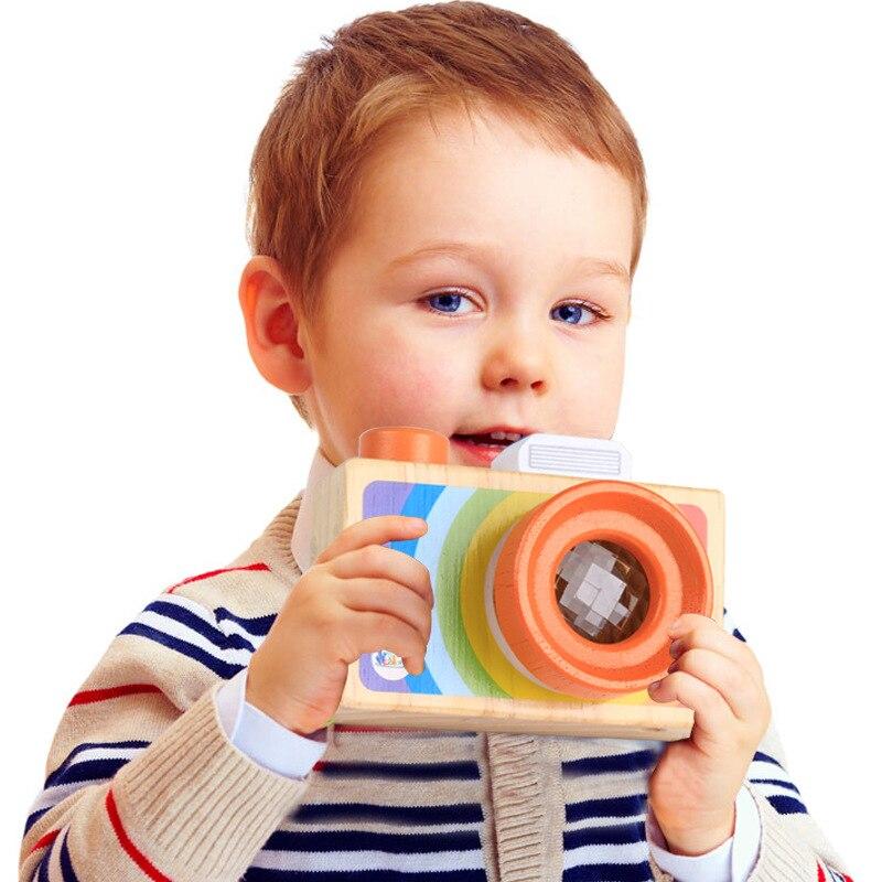 Dental House Kids Wooden Classic Toys Pretend Toys Camera Kaleidoscope Educational Magic Kaleidoscope Baby Children Learning Toy a coordination kaleidoscope