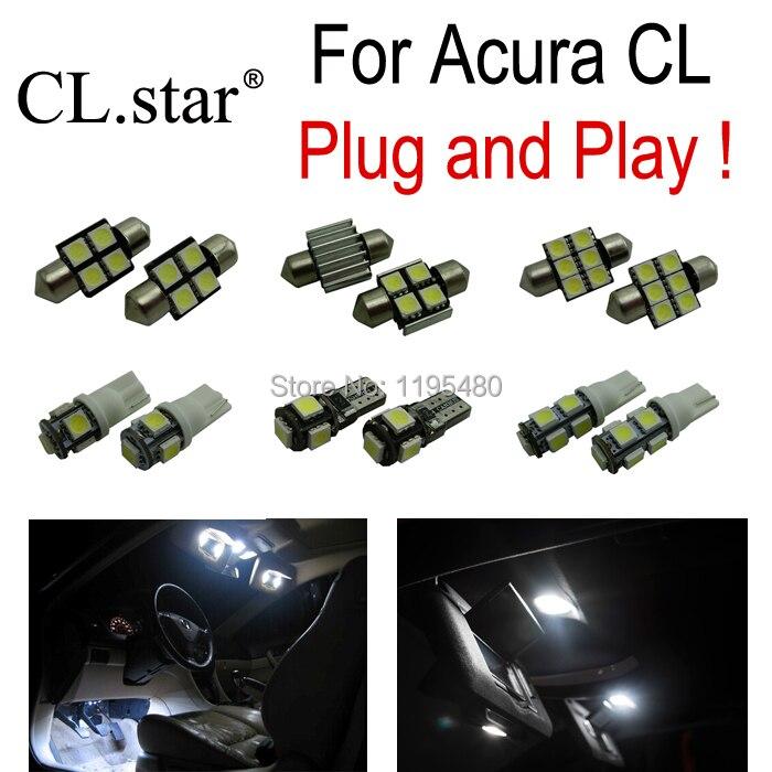 9pc X Free shipping Xenon white LED interior light kit for  Acura CL 1997-1999