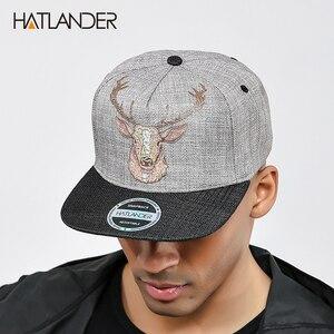 [HATLANDER] оригинальная качественная уличная Кепка snapback, мужские шапки с винтажным принтом оленя, женские бейсболки gorras bone, шапка в стиле хип-хо...