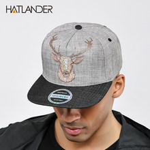 3ab2f428c425f  HATLANDER Original Quality street style snapback cap men hats vintage deer  printing women baseball caps gorras bone hip hop hat