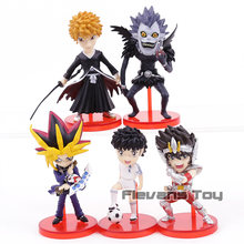 Hot Anime BLEACH Kurosaki Ichigo Death Note Ryuk Saint Seiya Captain Tsubasa Yugi Muto PVC Figures Toys 5pcs/set(China)