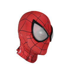 Super Hero Spiderman Cosplay Mask Full Head Deluxe Halloween Party Masks Movie Theme Hood Masks Suitable For Adults(China)