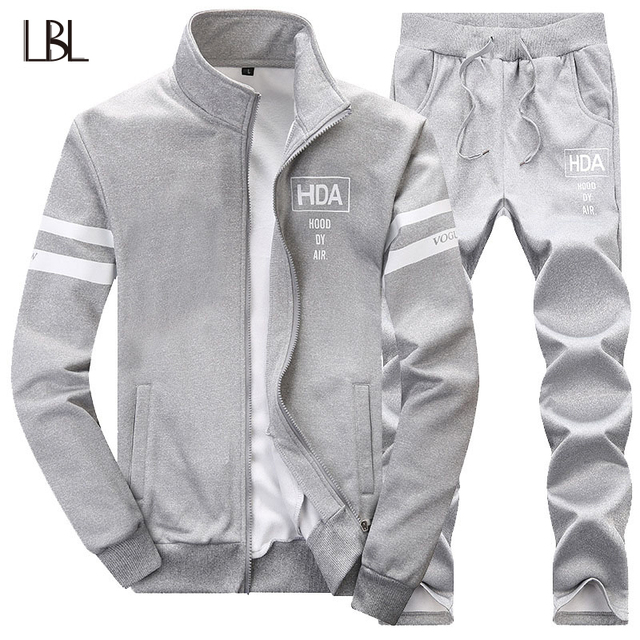 1672ab4c1d5 Men's Sportswear Tracksuit Sets Luxury Brand Men's Fashion Sportsuits Winter  Warm Zipper Sweatpants Hoodies Mens Plus Size 4XL
