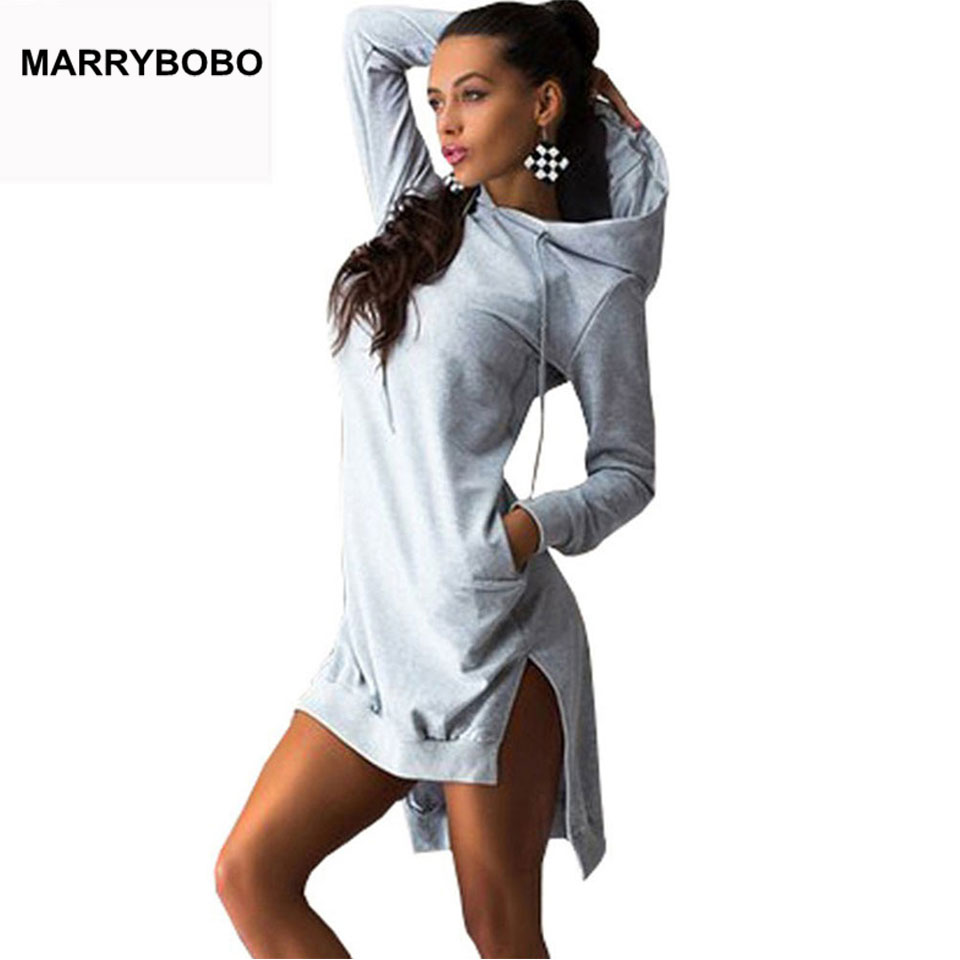 HTB15fbmEXmWBuNjSspdq6zugXXaO Women Slim Hoodie Dress 2019 Autumn Winter Long Sleeve Casual Dress Hooded Pockets Sportwear Female Fashion Women Clothing