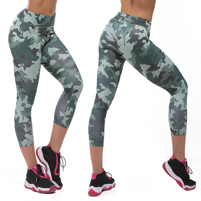 Aliexpress.com : Buy Camouflage print Women Running tights Workout ...