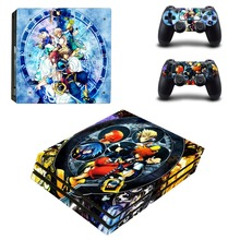 Game Kingdom Hearts PS4 Pro Skin Sticker Decal Vinyl for Playstation 4 Console and 2 Controllers PS4 Pro Skin
