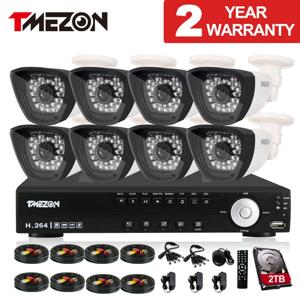 Tmezon 1 3 Color CMOS with IR Cut 1200TVL 8CH HDMI DVR Bullet CCTV font b