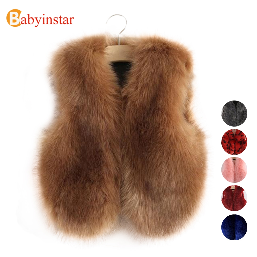 13 Colors Autumn Winter Girl s Vest Faux Fur Girl Clothes Fashion Children Outfits Girl Waistcoats