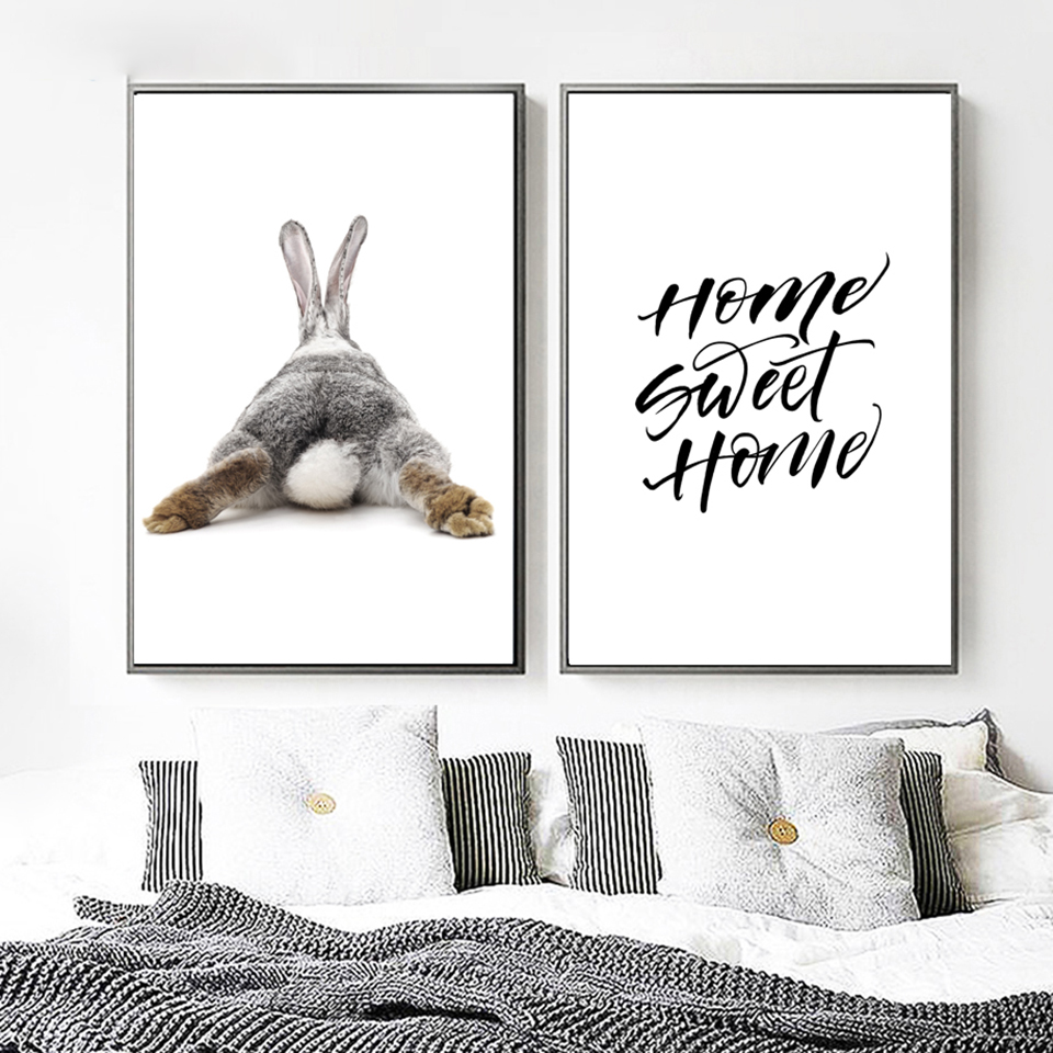 HTB15fcIKCzqK1RjSZPcq6zTepXaK Canvas Printed Poster Home Decorative Animal Giraffe Quotes Nordic Poster Painting Wall Artwork Pictures Living Room Modular