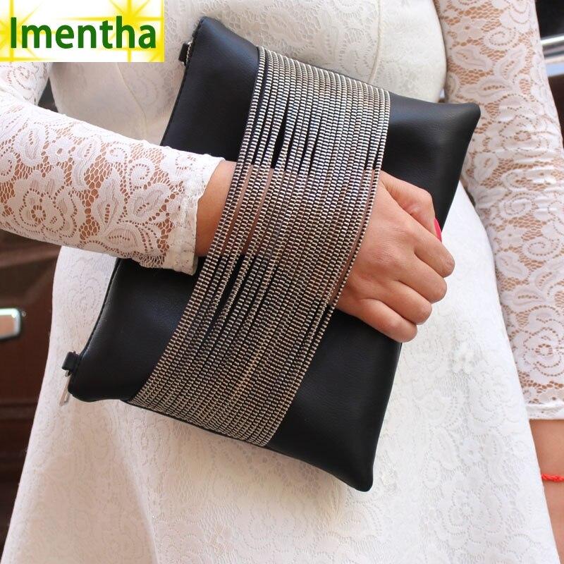 86e1e5edaf Imentha czarnych kobiet sprzęgłowa torba dni sprzęgła torebki i torby torby  sprzęgła wieczór party koperta sprzęgła kobiet torebki skórzane