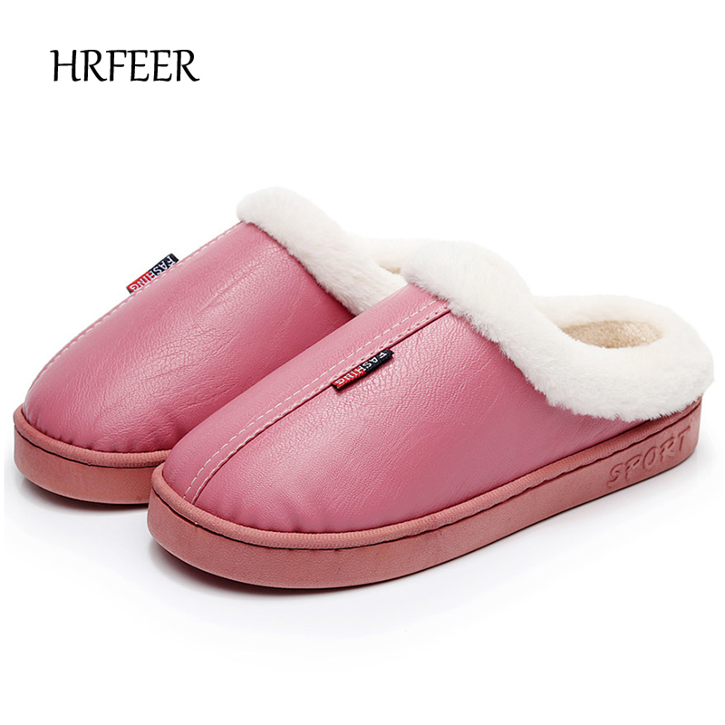 HRFEER Women/Men Slippers Winter Warm House Slipper Woman Indoor Furry Slippers Plus Size 11 Wholsale Home Shoes