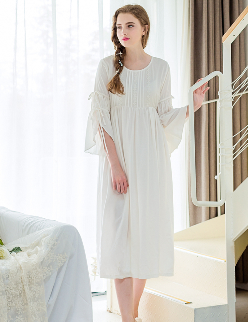 Buy Sleepwear Nightgown Women Elegant Nightdress European Style Simple