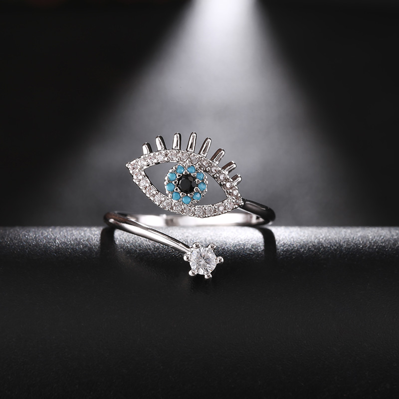 St.kunkka 925 Sterling Silver Zircon Turkey Round Evil Ring Anillos Wedding Rings For Woman Bijoux Anel Engagement Ring Jewelry