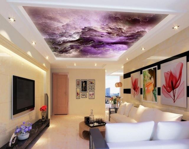 papier peint au plafond photos plafond d stro papier peint nuit toile ciel photo papier peint. Black Bedroom Furniture Sets. Home Design Ideas