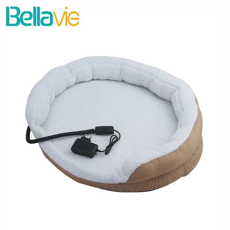 Electric Heating Pad Pet Heated Pet Bed Mat for Dog Puppy and Cat with Chew Resistant Cord Waterproof Removable Cover Bellavie pet attire sparkles dog collar 8 12in pink