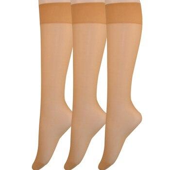 2020 Spring/Summer Women's 6 Pair Pack 20D Silky Sheer Knee Hi Nylon Socks Over the Knee Socks Women Knee High Socks цена 2017