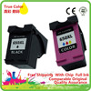 1 Set 2 Pack Black Color Ink Cartridges Remanufactured For HP 650 XL HP650 HP650XL 650XL