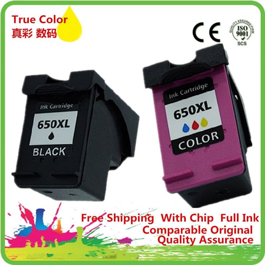 Black & Color Ink Cartridges Remanufactured For 650 XL HP650 HP650XL 650XL Deskjet 2545 2645 3515 4645 4510 4515