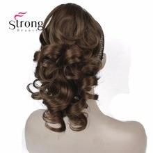 """Strongbeauty 12 """"фигурных синтетический зажим в коготь хвост Наращивание волос Синтетические парики 125 г с Щековая/коготь клип"""