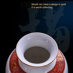 Image 3 - Antieke Jingdezhen Keramische Vaas Eierschaal Vaas Bureau Accessoires Ambachten Sneeuw Bloempot Traditionele Chinese Stijl PorcelainVase