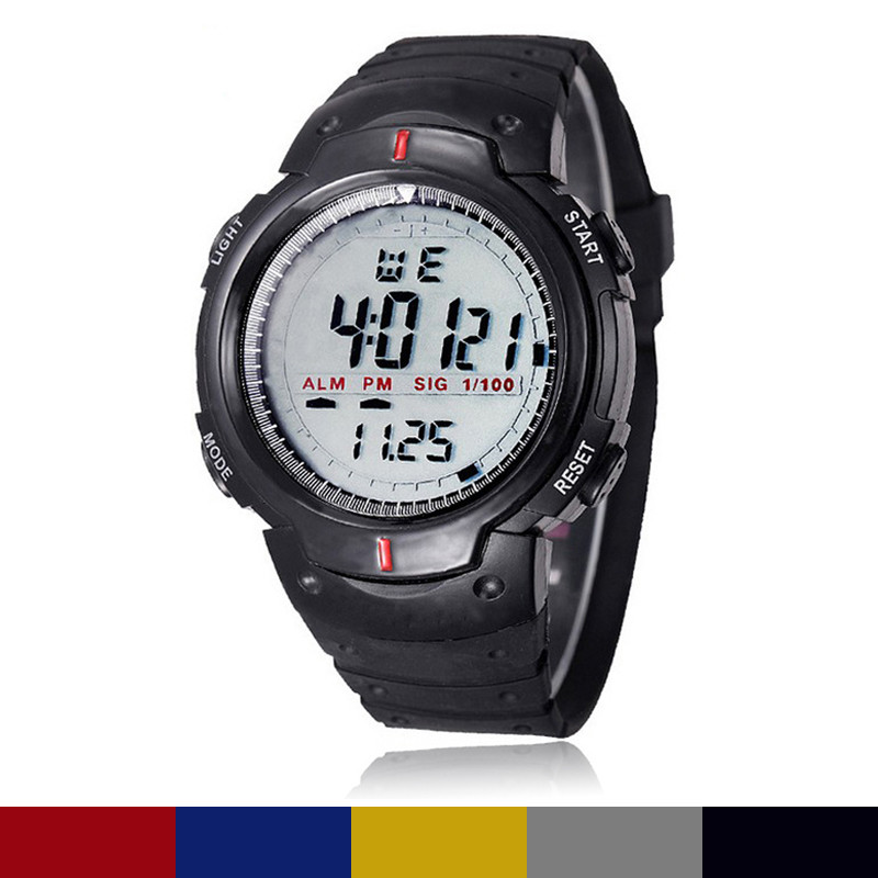 978f665f957a Marca relojes hombre Top marca de lujo escalada alpinismo al aire libre impermeable  deportes hombres reloj digital LED reloj del cuarzo
