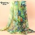 2015 Fashion Flowers Scarf Women Silk Scarf Luxury Brand Scarves Women's Thin Beach Towel Wholesale SW093