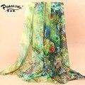 2015 Moda Flores Cachecol Mulheres Lenço De Seda Lenços De Marca de Luxo das Mulheres Toalha de Praia Fina Atacado SW093