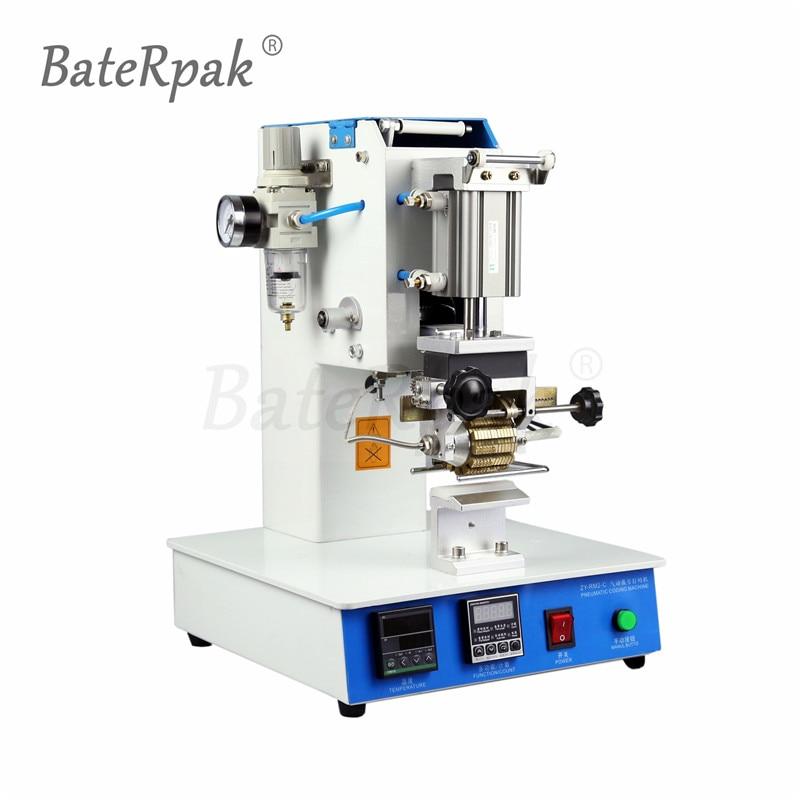 Imprimante pneumatique de code de composition de ZY-RM2-C, machine de codage de cadran de BateRpak, Machine d'estampillage automatique, machine de pliage de LOGO en cuir