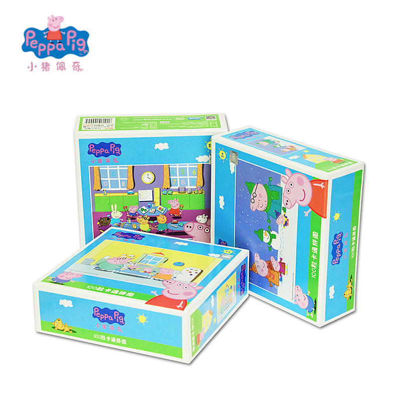 Peppa <font><b>George</b></font> Pig New Scene <font><b>Puzzle</b></font> Jigsaw Scenario Games Intelligence Educational Toy Christmas New Year 2018 Best Gift For Kids