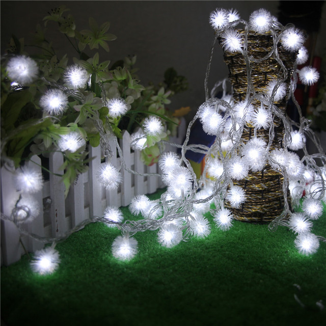 christmas lights decorate the balcony window decoration indoor lights garden store decoration maomao ball led lights