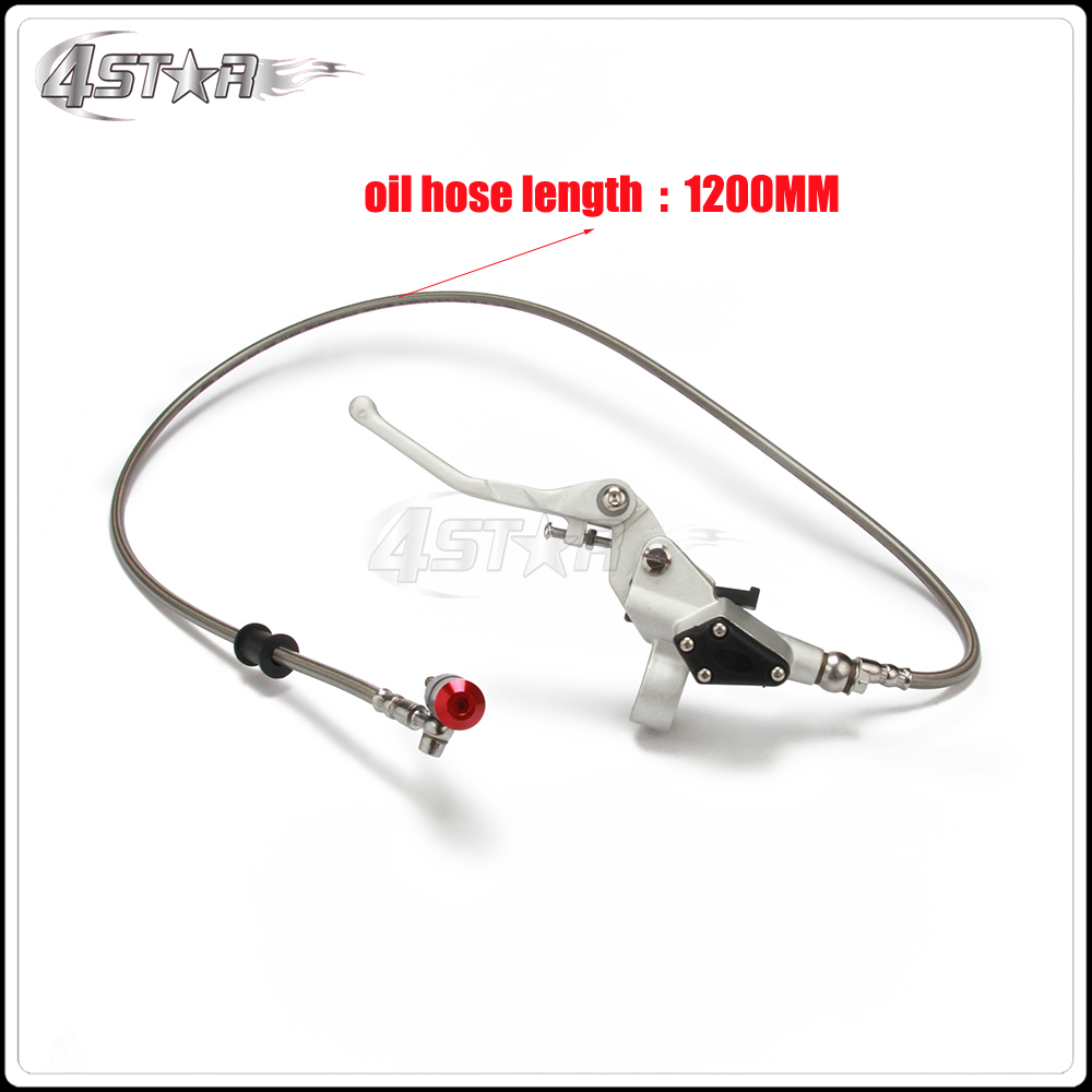 Hydraulic Clutch 1200mm Silver Lever Master Cylinder For 125-250cc Vertical Engine Motorcycle Dirt Bike Motocross Free Shipping(China)