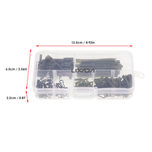Lixada 160pcs Carp Fishing tackle box Hair Rig Combo box Accessories Hooks Rubber Tubes Swivels Beads Sleeves Stoppers