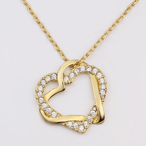 Fashion women gold filled heart pendant necklace chain jewelry lkn18krgpn586 lkn18krgpn58602 lkn18krgpn58604 lkn18krgpn58606 lkn18krgpn58607 lkn18krgpn58605 aloadofball Choice Image
