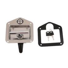 صندوق أدوات مزود بقفل بمقبض على شكل حرف T قابلة للطي طقم مفاتيح شاحنة مقطورة RV صندوق أدوات لليخت كابينة كهربائية ملحقات القوارب البحرية