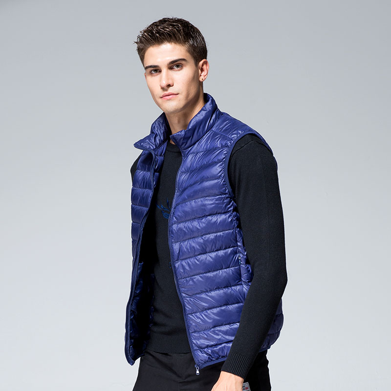 Bingchenxu Brand White Duck Down Mens Vests Jacket High Quality Warm