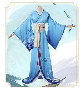 Juego Shiranui Onmyoji SSR Shiranui buzo Ali Kimono Cosplay disfraz uniforme vestido Halloween navidad regalo