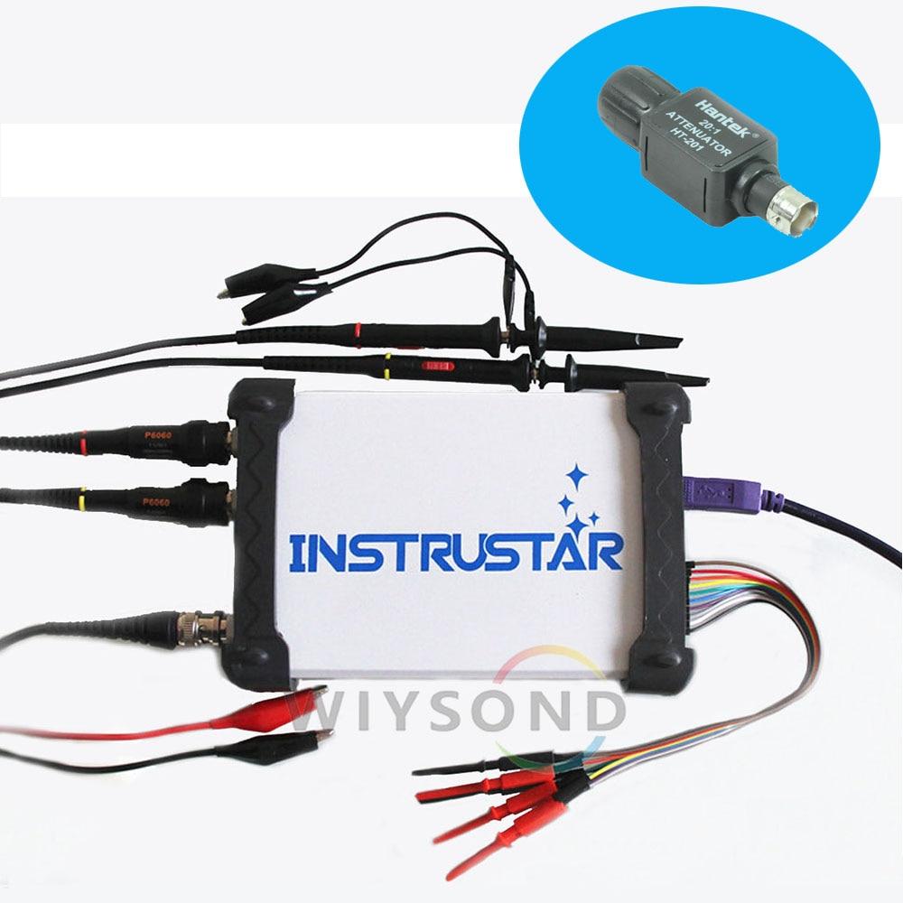 O073 ISDS205X 5 IN 1 PC Based USB / Spectrum Analyzer / DDS / Logic Analyzer / Data Recorder / Digital Oscilloscope + Attenuator