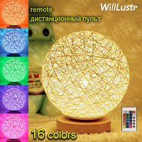 LED Remote Control Night Light dimmable RGB colorful kids children room bedside desk table lamp party Xmas holiday decoration