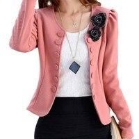 Korean Fashion Blazer Feminino Plus Size 3XL Long Sleeved Bleiser Mujer Casual 4 Colors Lovely Women