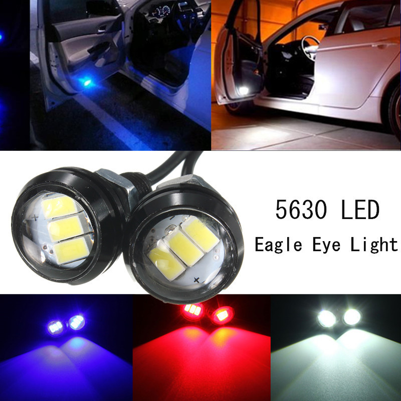 2pcs DC12V 5630 120LM 3SMD 2.4W Car Auto LED Eagle Eye Lamp Up Reverse Lamp Interior Door Light 3 Colors White/Red/Blue Hot Sale ...