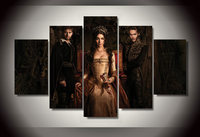 Cuadros Decoracion Paintings Unframed Reign Tv Show 5 Piece Painting Wall Art Room Decor Print Picture Canvas Free Shipping