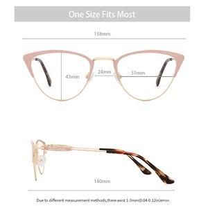 Image 3 - אצטט נשים משקפיים מסגרת משקפיים שקוף עדשת רטרו גבירותיי חתול עין משקפיים קוצר ראיה בציר משקפיים מסגרת # 3743