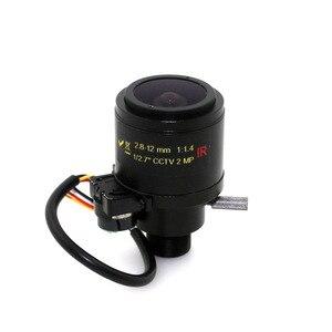 Image 3 - MP HD motorisé, 1/2, 7 pouces, 2.8 12mm, Varifocal F1.4 M12, infrarouge DC, lentille de caméra de sécurité automatique CCTV infrarouge