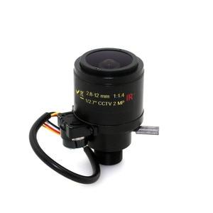 """Image 3 - MP HD z napędem 1/2. 7 """"2.8 12mm zmiennoogniskowy F1.4 M12 do montażu na DC Iris Auto IR kamera do monitoringu cctv obiektyw"""