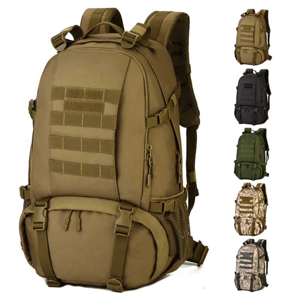 High Quality Men Military Nylon hand bags Rucksack Camouflage Mountaineering Daypack Water Bottle Bag Big Waterproof Backpack 2017 hot sale men 50l military army bag men backpack high quality waterproof nylon laptop backpacks camouflage bags freeshipping