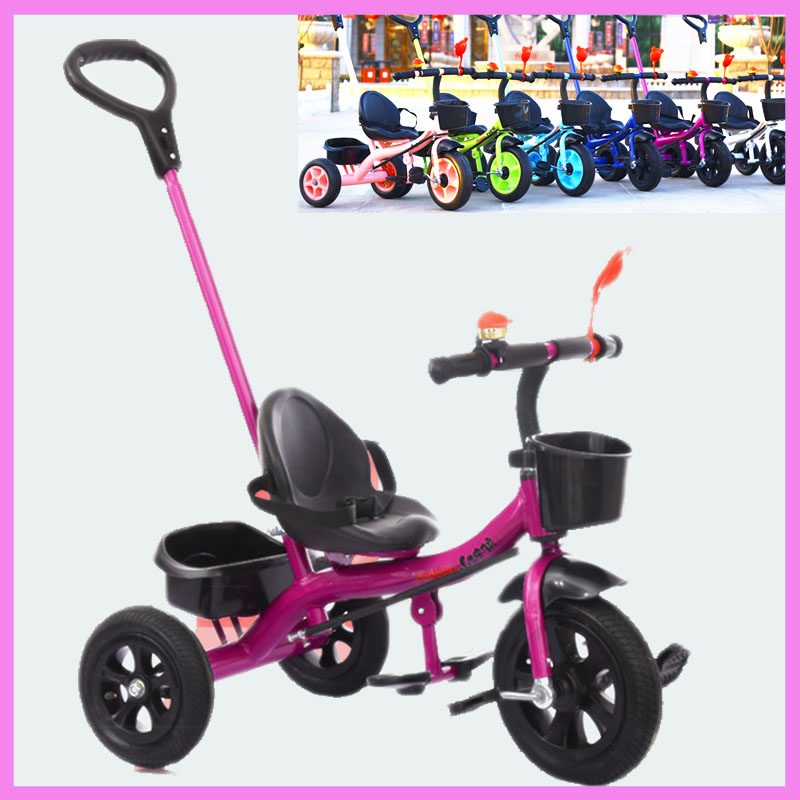 Baby Carriage with 3 Wheels Baby Tricycle Bicycle Child Stroller Bicycle Hand Bar Pushchair Three Wheels Cart Stroller Bike new child tricycle 3 wheels baby stroller bike ride on cars kids bicycle prams and pushchairs baby stroller 3 in 1