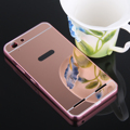 Luxury Mirror Hybrid case for HTC Desire 620 620G Hard Metal Aluminum frame Protective back cover for htc 620 phone cases shell